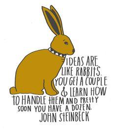 Inspiration by John Steinbeck.  Art by Lisa Congdon