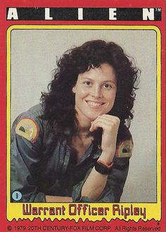 "#9 ""Warrant Officer Ripley"" -- ALIEN trading cards (1979, Topps)"