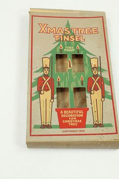 Vintage 1925 Christmas Tree Tinsel/Icicles Box Only