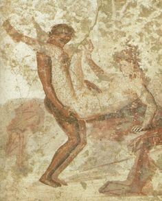 A Roman wall painting from Pompeii 1AD. Naples National Museum