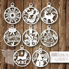 Láser De Mdf De Navidad Santa Claus Magic Key Mágico Navidad Decoración 20cm