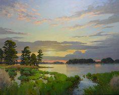 Spring Sunrise by Edward Cooper Oil ~ 48 x 60   c004