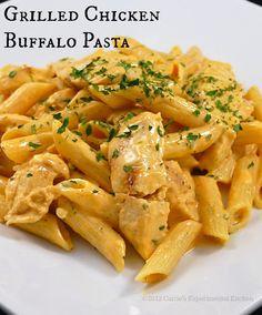 Grilled Chicken Buffalo Pasta Recipe on Yummly. @yummly #recipe