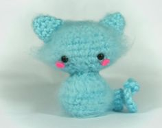 Crochet Snow Ball the Cat Amigurumi Toy