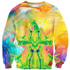 Trippin' Froggy Frog Sweater – Shelfies - Outrageous Clothing