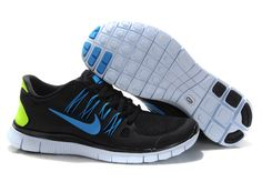 info for 69956 fbaf8 Mens Nike Free Run Black Blue Volt Online Exclusives  Nike Free Running  Shoes UK Sale