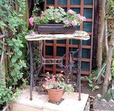 Using salvage in the garden - 15 ideas for using junk