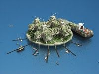 Architecture, Micronational Ocean Home Cities Design: Ocean Home in The Middle of Floating City Futuristic City, Futuristic Architecture, Green Architecture, Amazing Architecture, Fantasy Landscape, Landscape Art, Floating House, Floating Cities, Floating Island