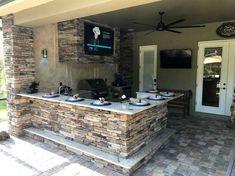 54 Cozy Outdoor Kitchen Design Ideas kitchen #54 #cozy #outdoor #kitchen #design #ideas
