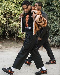 Rocky and Ferg Men Street, Street Wear, Asap Rocky Fashion, Lord Pretty Flacko, Fashion Killa, Mens Fashion, Mode Hip Hop, Rapper, A$ap Rocky
