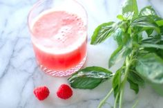 Double Melon Smoothie  With watermelon, cantaloupe, raspberries, basil and ginger