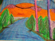 landscape art lesson- perspective