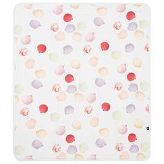 "Molo - Baby's White ""Neala"" Ice Cream Print Blanket 85 cm x 75 cm | Childrensalon"