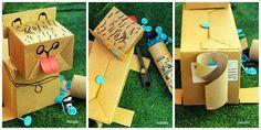 juguete con material reciclado, makedo