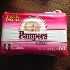 1990s Pampers Plastic Diaper The Good Old Days 80s