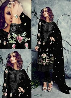 Fabric:Georgette Bottom: Santoon Inner: Santoon Dupatta: Pure Chiffon Stich type: Semi Stich