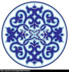 blue oriental ottoman design twenty-three version