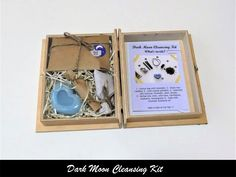 Dark Moon Cleansing Kit from Moon Organizer - Moon Witchcraft Magick, Witchcraft, Essential Oil Mixtures, Moon Calendar, Moon Witch, Dark Moon, Lavender Oil, After Dark, Cotton Bag