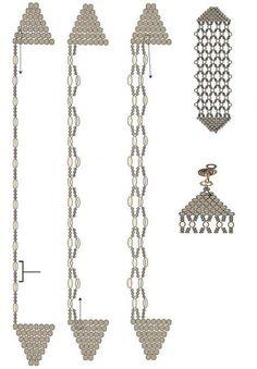 Tendance & idée Bracelets 2016/2017 Description brick stitch and netting bracelet tute. #Seed #Bead #Tutorials