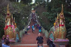 the entrace of doi suthep in chiang mai thailand