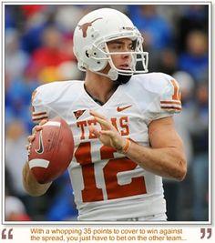 Texas Longhorns Colt McCoy - named our orange tabby after him :)