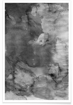 Dark Watercolor als Premium Poster door cafelab | JUNIQE