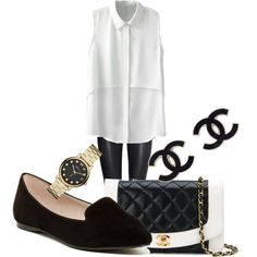 office wear by koriunnajackson on Polyvore featuring polyvore fashion style H&M ALDO Chanel Marc by Marc Jacobs