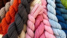 Swans Island yarn.  Hand crafted on the coast of Maine.  100% certified organic merino wool and alpaca blends.  Hues achieved by natural dyestuffs.