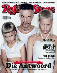 Die Antwoord ninja. Yolandi and daughter sixteen