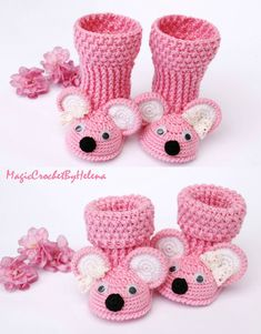 Baby booties gift for newborn booties mouse gift for baby crochet shoes crochet booties crochet booties for girl and boy for newbornWonderful Shopping List by Anna Margaritou on Etsy Crochet Booties Pattern, Baby Booties Free Pattern, Baby Shoes Pattern, Crochet Baby Booties, Crochet Slippers, Boy Crochet, Knitted Baby, Crochet Dolls, Baby Knitting Patterns