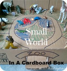 Zoo Small World - In a Cardboard Box By Le Baby Bakery