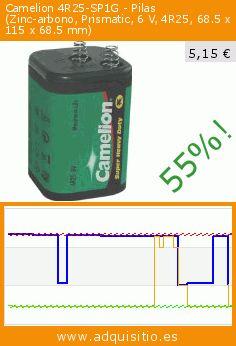 Camelion 4R25-SP1G - Pilas (Zinc-arbono, Prismatic, 6 V, 4R25, 68.5 x 115 x 68.5 mm) (Accesorio). Baja 55%! Precio actual 5,15 €, el precio anterior fue de 11,39 €. https://www.adquisitio.es/camelion/4r25-sp1g-pilas-zinc