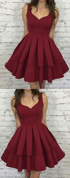 Excellent Homecoming Dresses Simple Homecoming Dresses Short Burgundy Homecoming Dresses V Neck Homecoming Dresses Simple Homecoming Dresses, Burgundy Homecoming Dresses, Simple Prom Dress, V Neck Prom Dresses, Modest Dresses, Dance Dresses, Simple Dresses, Sexy Dresses, Dress Prom
