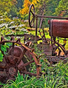 Rusted | photograph by by Colleen Kammerer | fineartamerica.com #rusty #tractor