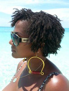 Beach hair. Beach air makes my young sisterlocks look amazing.  Hair is my story. 9 months in my sisterlock journey