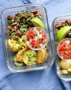 Meal prep breakfast taco bowls - the defined dish whole 30 recipes, real fo Healthy Meal Prep, Healthy Dinner Recipes, Healthy Snacks, Breakfast Recipes, Healthy Eating, Whole30 Recipes, Breakfast Tacos, Breakfast Healthy, Desayuno Paleo