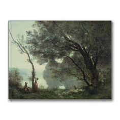 Jean Baptiste Corot 'Recollections of Mortefontaine' Art