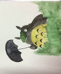 Totoro by watercolor