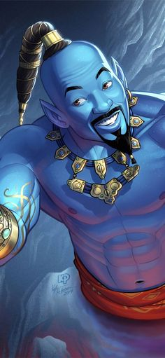 genie will smith art iPhone X Wallpapers