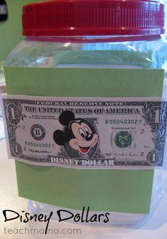 disney dollars: kids earn 'money' for their disney trip | countdown idea for disney vacation #disneysmmoms #weteach