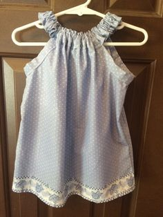 Ruffled Neck Dress baby/toddler by FitlySewn on Etsy