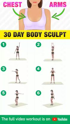 Upper Body Weight Workout, Full Body Gym Workout, Gym Workout Videos, Gym Workout For Beginners, Weight Loss Workout Plan, Fitness Workout For Women, Fitness Workouts, Fitness Tips, Tone Arms Workout