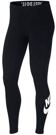 info for 2d02e bb9cc Nike Womens Leg-A-See Logo Legging Black White AH2010-010 Size Medium at  Amazon Women s Clothing store
