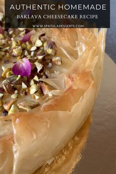 Ramadan Desserts, Greek Desserts, Easy Desserts, Dessert Recipes, Turkish Recipes, Greek Recipes, My Recipes, Cooking Recipes, Baklava Cheesecake