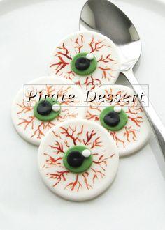 Toppers de cupcake de Halloween comestibles  ojo por PirateDessert