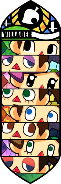 As someone pointed out the last time I tried to upload this, there were only seven before because I fail at counting! This time hopefully there are 8 pairs of villager eyes in this picture.