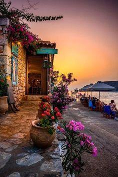 Taverna by the sea - Limeni, Mani, Greece