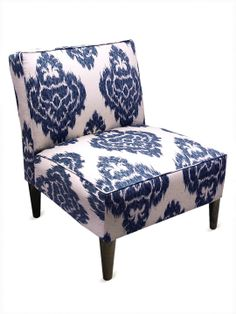 Armless Chair with Cone Legs by Platinum Collection by SF Designs at Gilt  2 in the library anchoring the window?