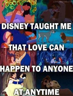 I love Disney. But life has taught me that love can also end in a deep dark abyss of unhappiness and fire. Disney And More, Disney Girls, Disney Love, Disney Magic, Disney Stuff, Disney Couples, Tv Couples, Disney Babies, Disney And Dreamworks