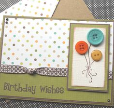 ** Handmade Masculine Birthday Card @sewcolorfuldesigns